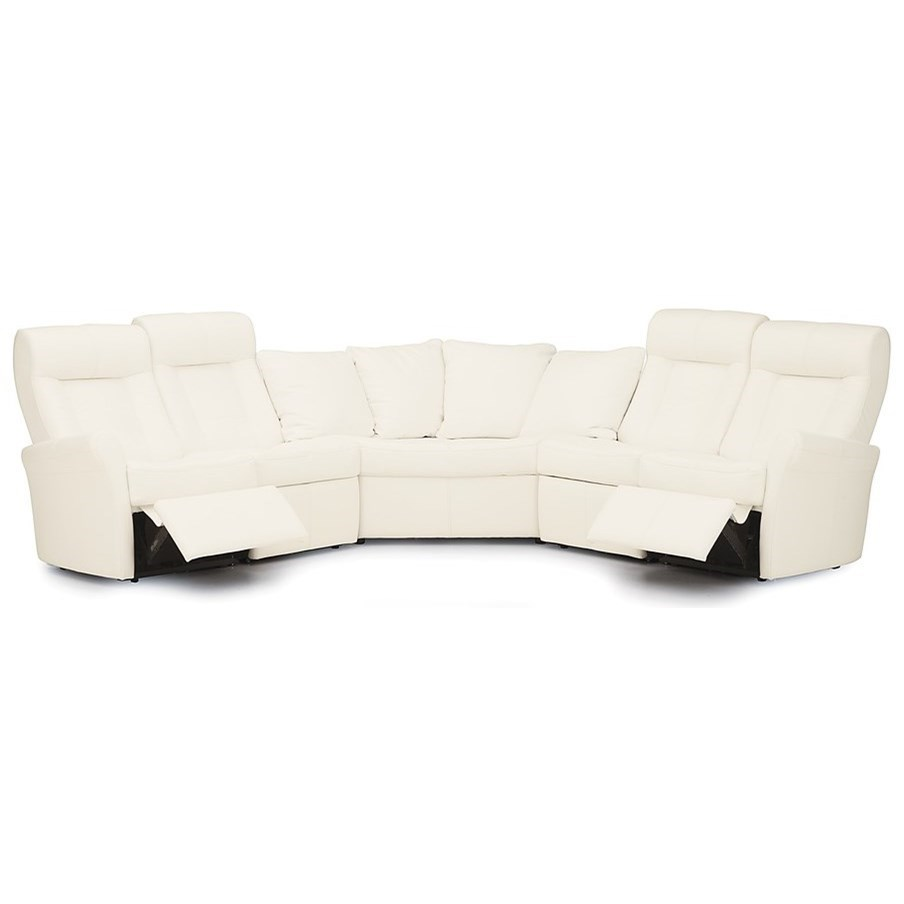 Yellowstone II Power Reclining Sectional by Palliser at Jordan's Home Furnishings