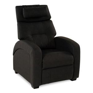 Transitional Recliner with Full Chaise Cushion