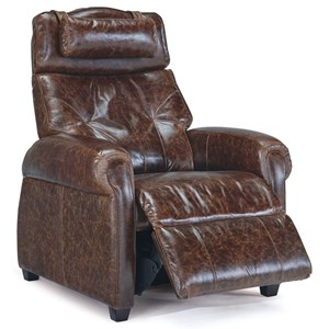 Transitional Recliner with Rolled Arms