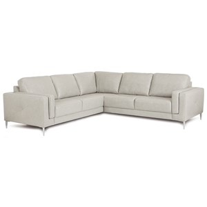 Contemporary Sectional Sofa with Metal Legs