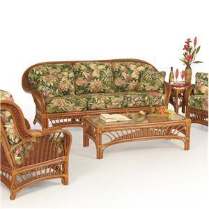Palm Springs Rattan Bali  Stationary Sofa