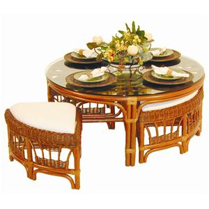 Palm Springs Rattan Bali  Table and Chair Set