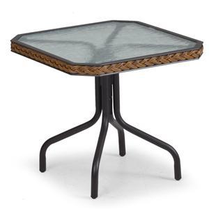 "Palm Springs Rattan Empire 19"" Tea Table"