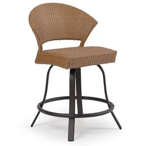 Palm Springs Rattan Empire Counter Height Stool