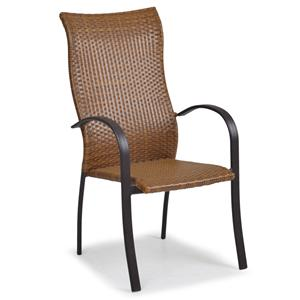Palm Springs Rattan Empire High Back Dining Chair