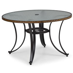 """Palm Springs Rattan Empire 48"""" Round Dining Table"""