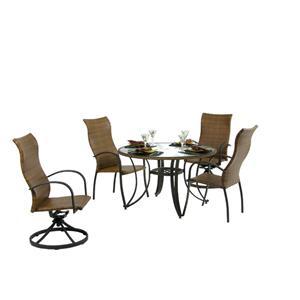 Palm Springs Rattan Empire 5 Pc. High Back & Swivel Tilt Dining Set