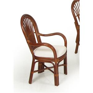 Palm Springs Rattan Islamorada Dining Arm Chair
