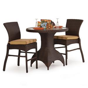 Palm Springs Rattan Kokomo 3 Pc. Counter Height Dining Set
