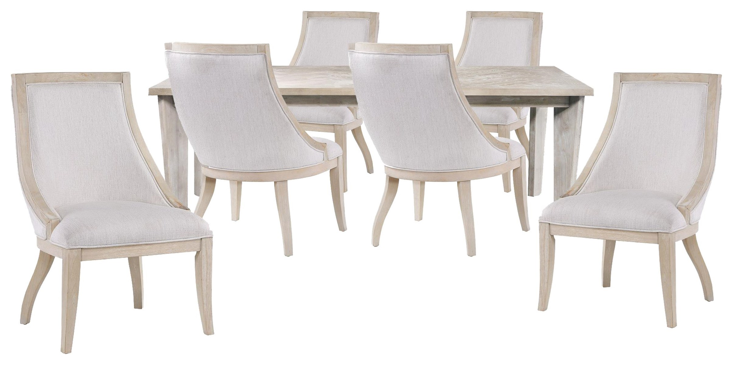 Boca Grande Dining Table and 6 Sling Chairs by Panama Jack by Palmetto Home at Johnny Janosik