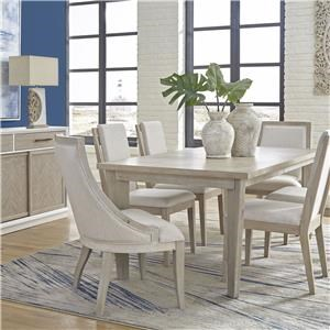 Dining Table, 4 Floating Back Chair and 2 Sling Back Chair