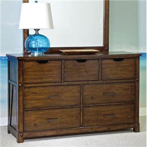 Panama Jack by Palmetto Home Eco Jack Youth 7-Drawer Dresser