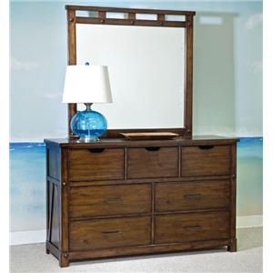 Panama Jack by Palmetto Home Eco Jack 7-Drawer Dresser & Landscape Mirror Set
