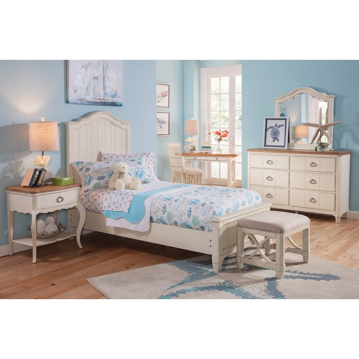 Millbrook Twin Bedroom Group by Panama Jack by Palmetto Home at Baer's Furniture