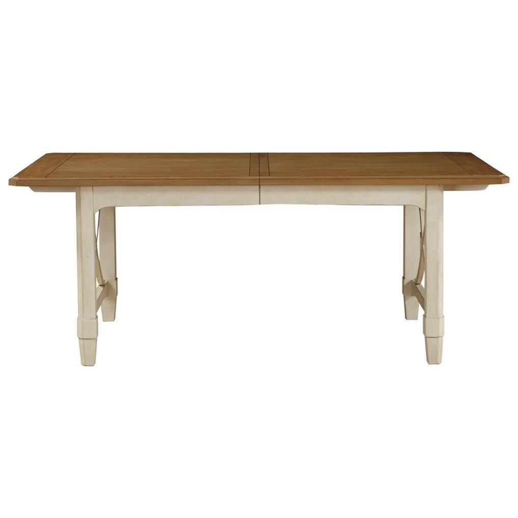 Millbrook Rect Leg Table Stain Top w/Cream Base by Panama Jack by Palmetto Home at Baer's Furniture