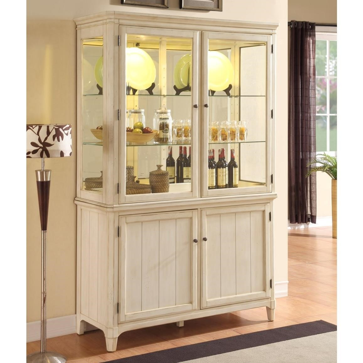 Millbrook Curio Cabinet by Panama Jack by Palmetto Home at Baer's Furniture
