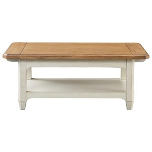 Rectangular Two Tone Cocktail Table