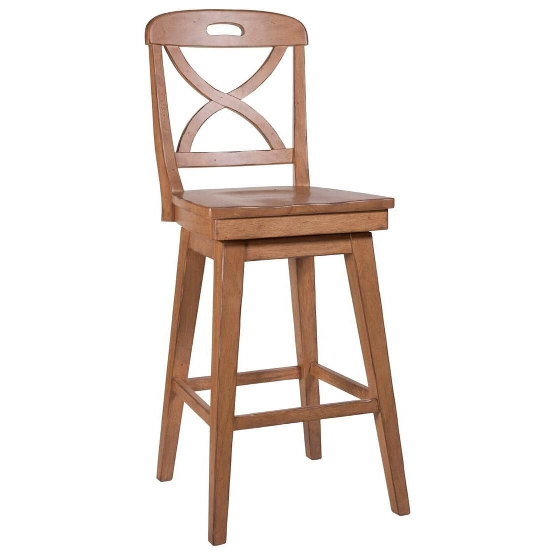 Millbrook X Back Cream SW Barstool by Panama Jack by Palmetto Home at Baer's Furniture