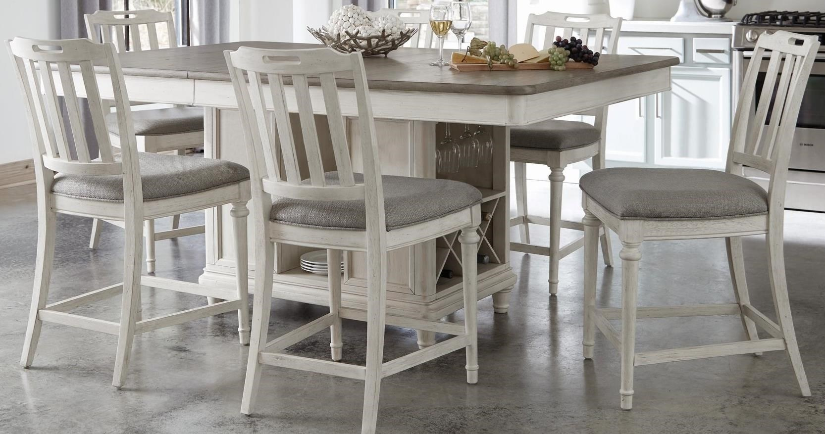 Sonoma 7-Piece Counter Height Table and Stools Set by Panama Jack by Palmetto Home at Baer's Furniture