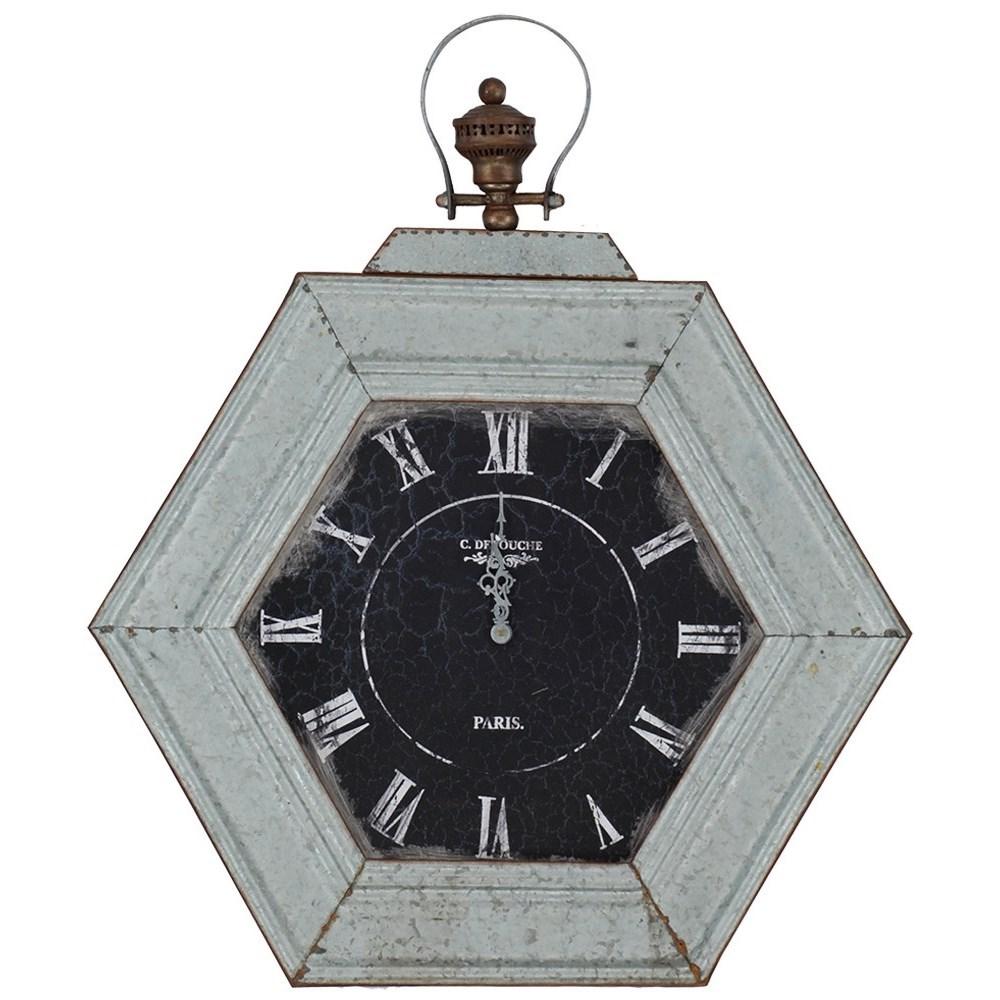 Clocks Metal Distressed Clock by Paragon at Ruby Gordon Home