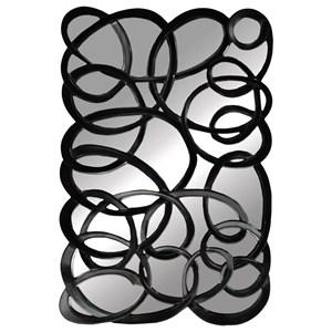 Black Interlaced Mirror