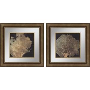 Set of 2 Gold Coral I Framed Art