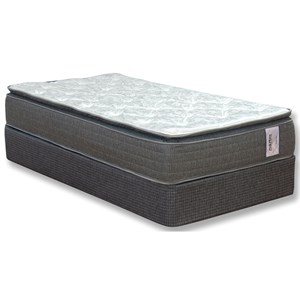 "King Euro Top Pocketed Coil Mattress and 5"" Madison Avenue Low Profile Foundation"
