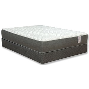 "King Firm Two Sided Pocketed Coil Mattress and 5"" Madison Avenue Low Profile Foundation"