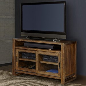 """55"""" TV Console with Sliding Glass Doors"""