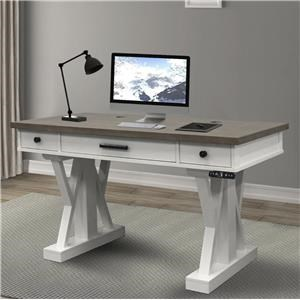"Cotton 56"" Power Lift Desk"
