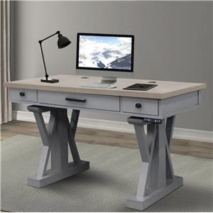 "Dove 56"" Power Lift Desk"