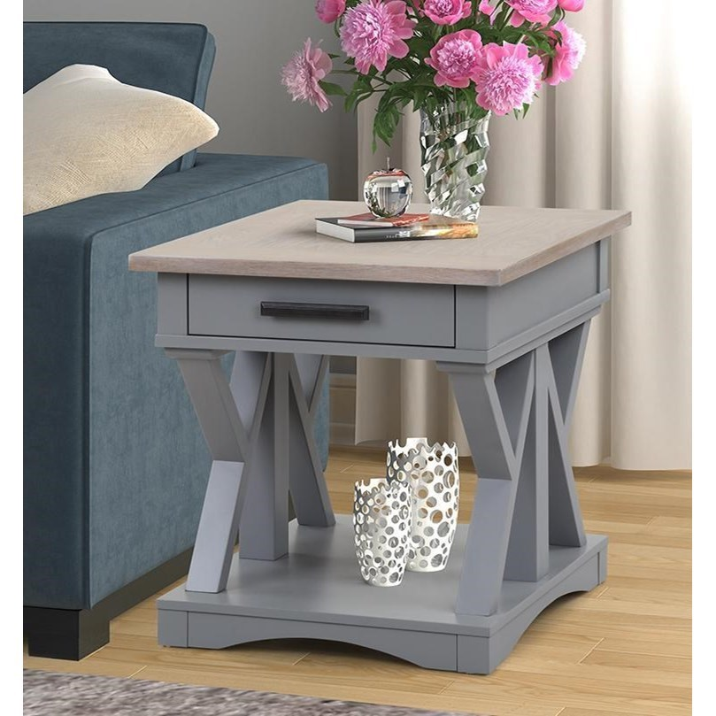 Americana Modern End Table by Parker House at Johnny Janosik