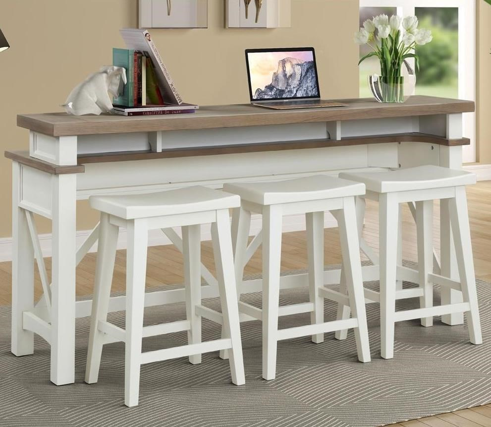 Americana Modern Everywhere Console with 3 Stools by Parker House at Furniture and ApplianceMart