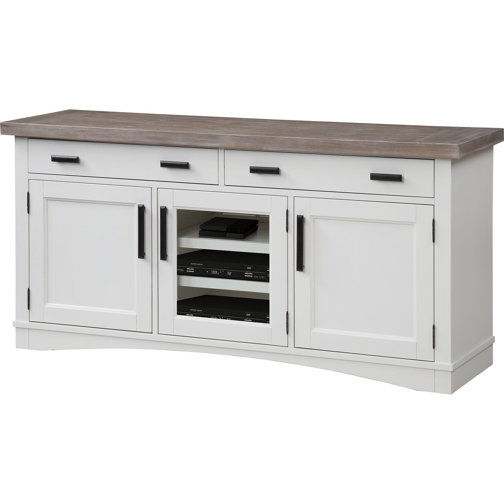 """Americana Modern 63"""" TV Console with Power Center by Parker House at Johnny Janosik"""