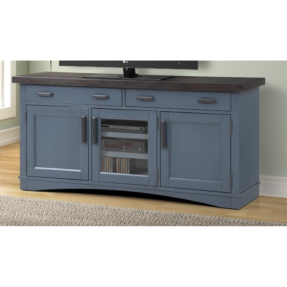 """Americana Modern 63"""" TV Console with Power Center by Parker House at Darvin Furniture"""