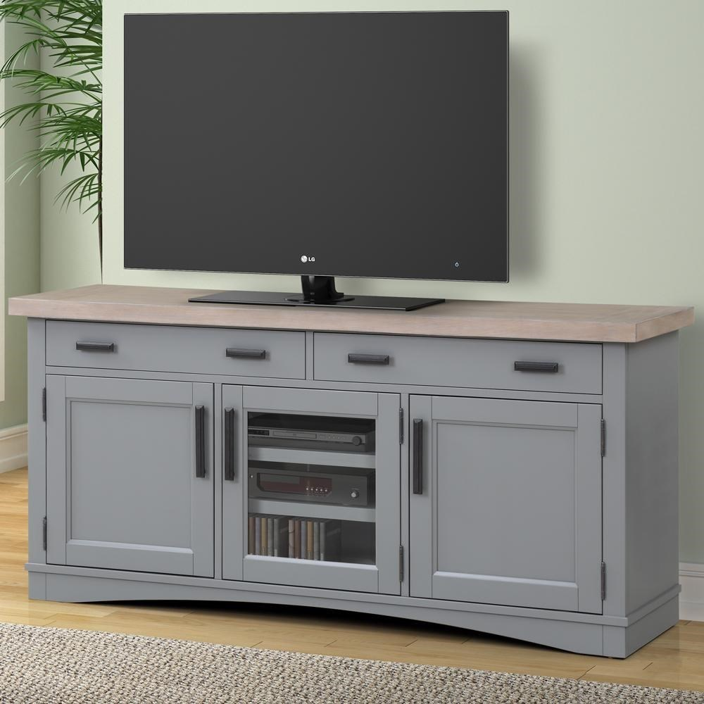 "Americana Modern 63"" TV Console with Power Center by Parker House at Johnny Janosik"