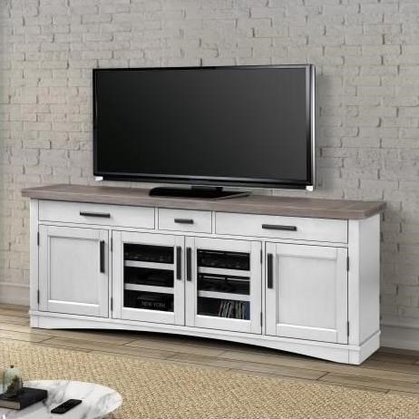 """Americana Modern 76"""" TV Console with Power Center by Parker House at Johnny Janosik"""