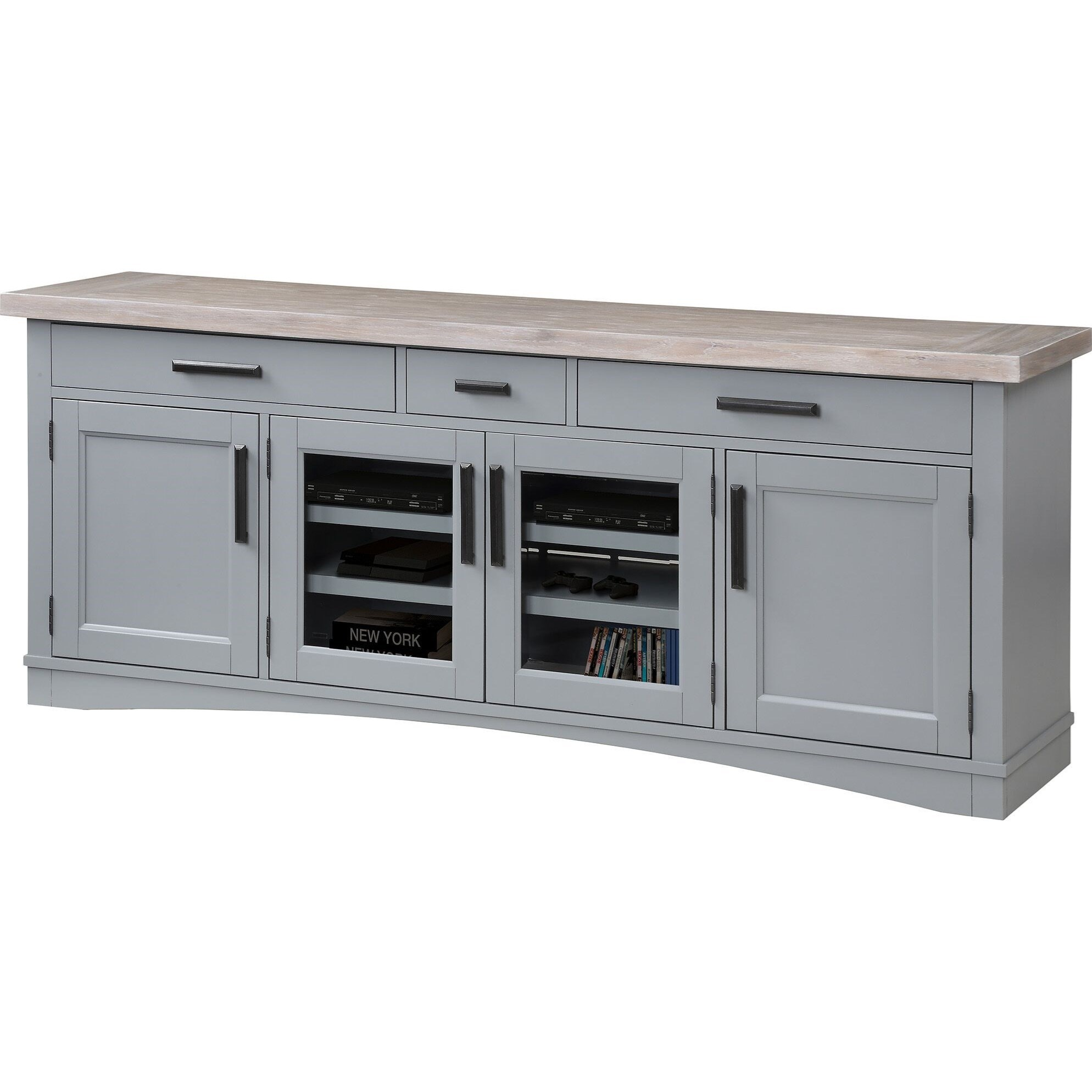 """Americana Modern 76"""" TV Console with Power Center by Parker House at Simply Home by Lindy's"""