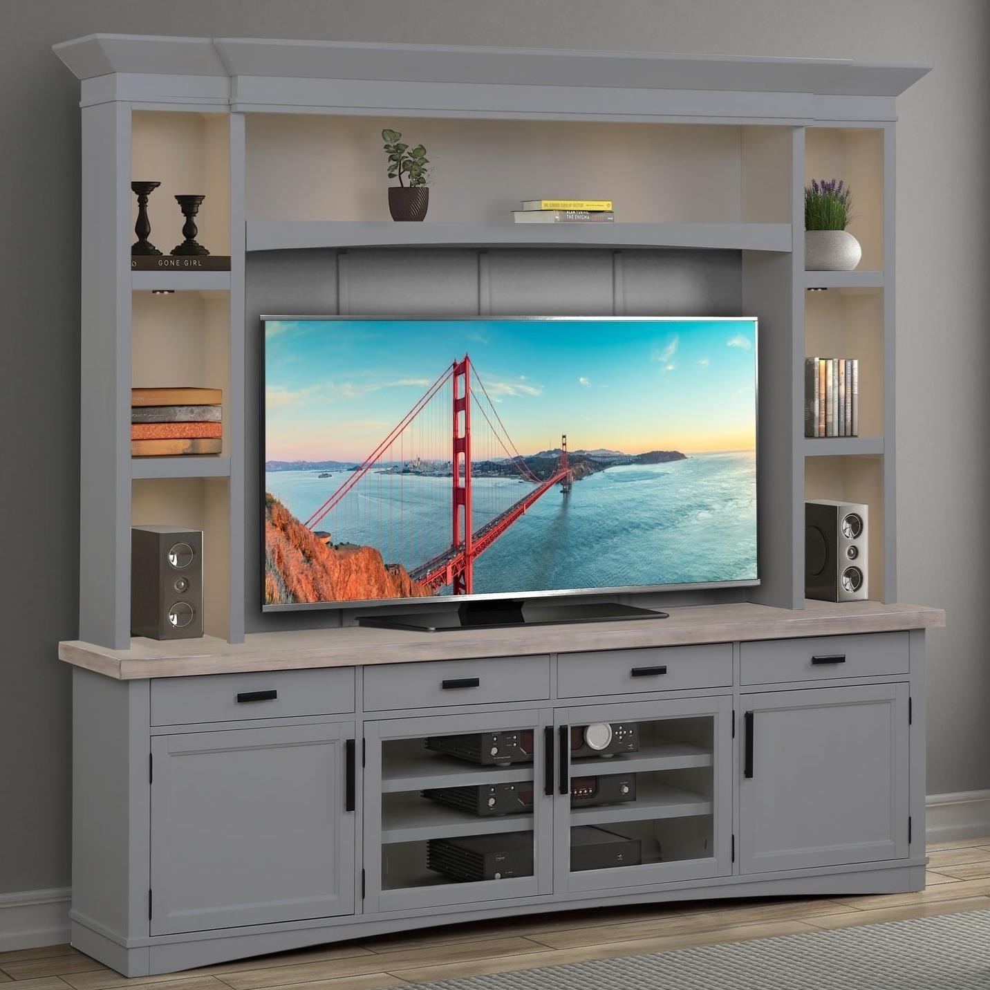 Americana Modern Entertainment Wall Unit by Parker House at Simply Home by Lindy's