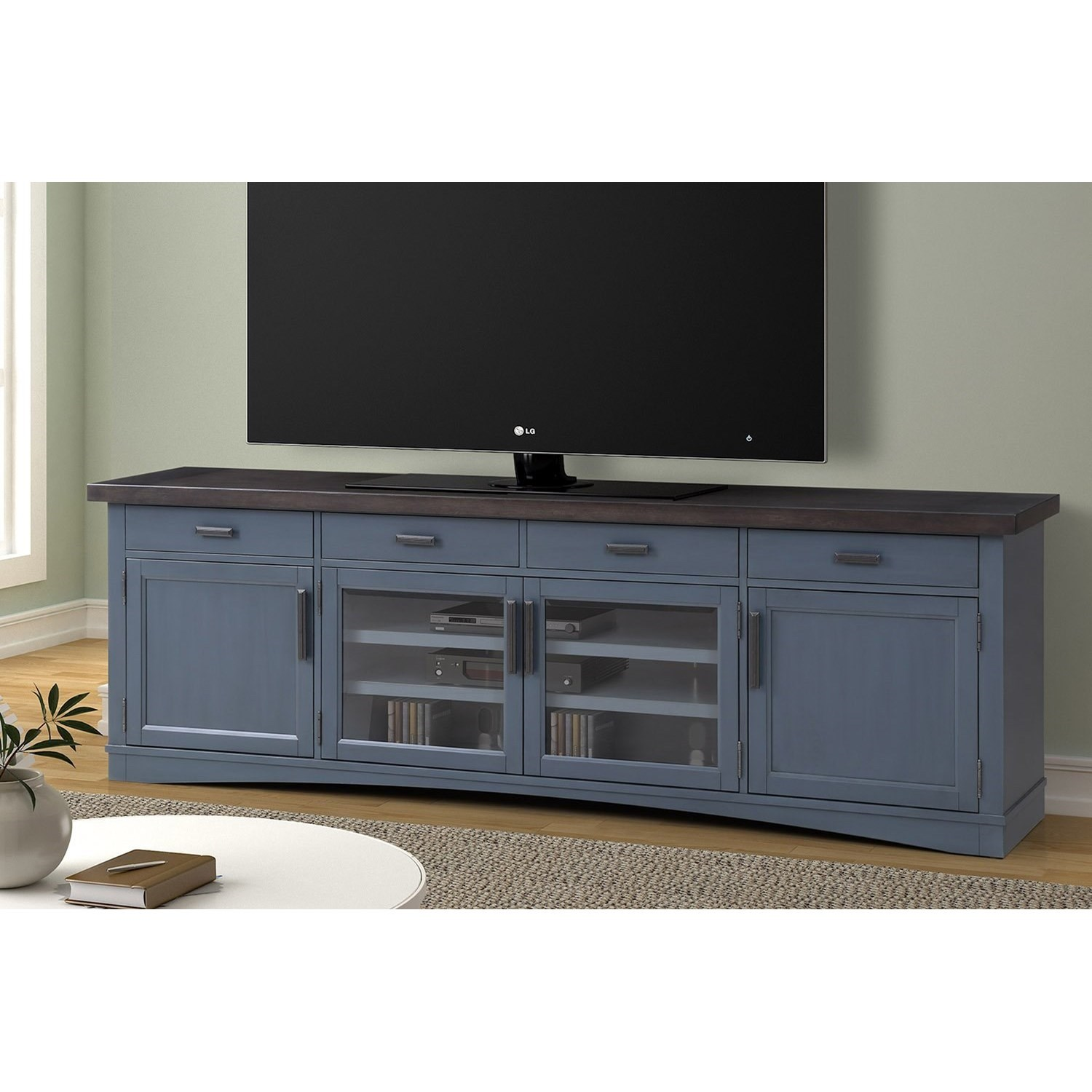 """Americana Modern 92"""" TV Console with Power Center by Parker House at Simply Home by Lindy's"""