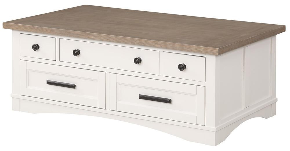 Americana Modern COTTON Cocktail Table with Lift Top by Parker House at Johnny Janosik