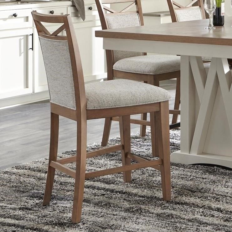 Americana Modern Counter Chair Upholstered by Parker House at Furniture and ApplianceMart