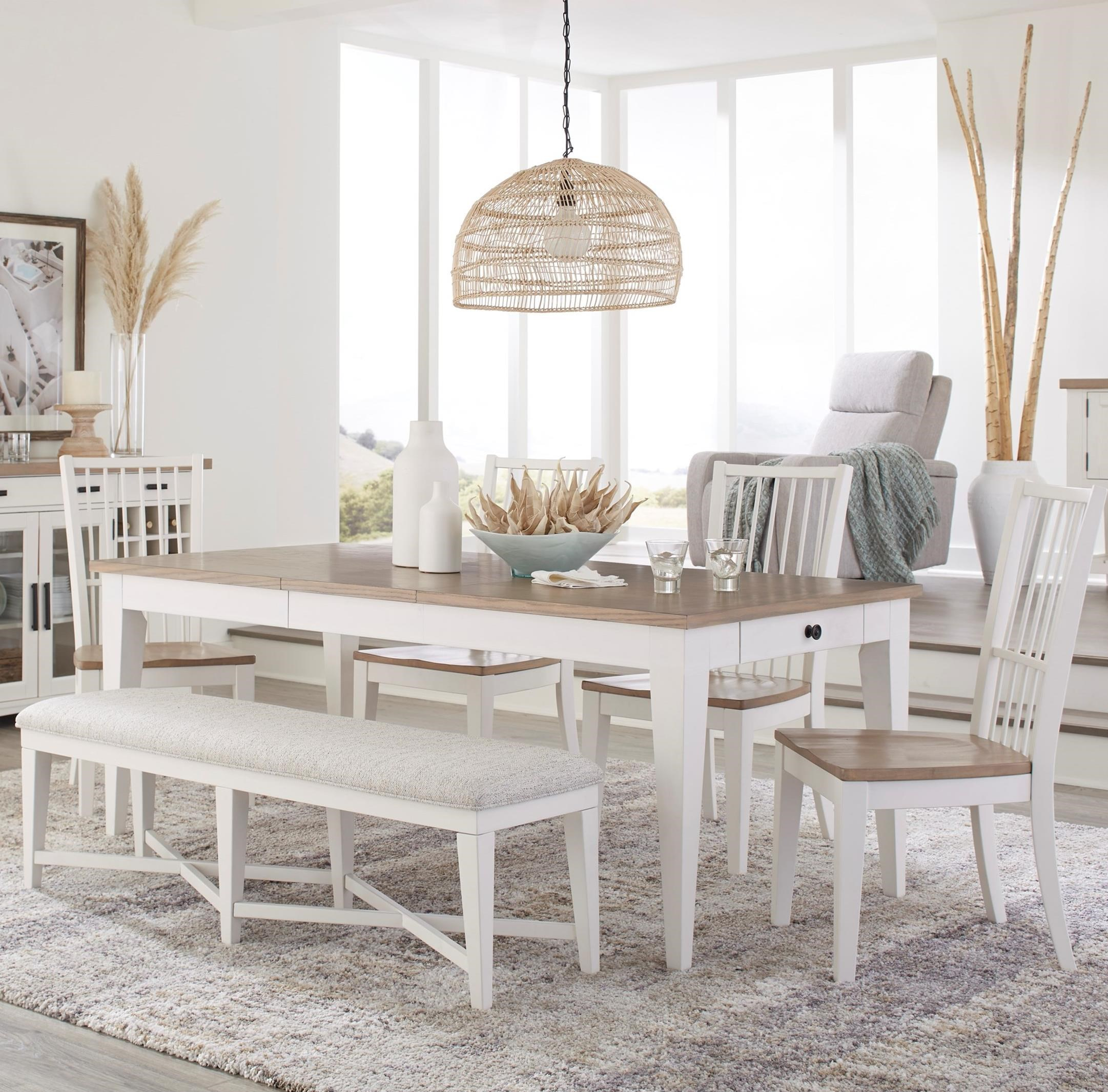 Americana Modern 6-Piece Dining Set with Bench by Parker House at Zak's Home