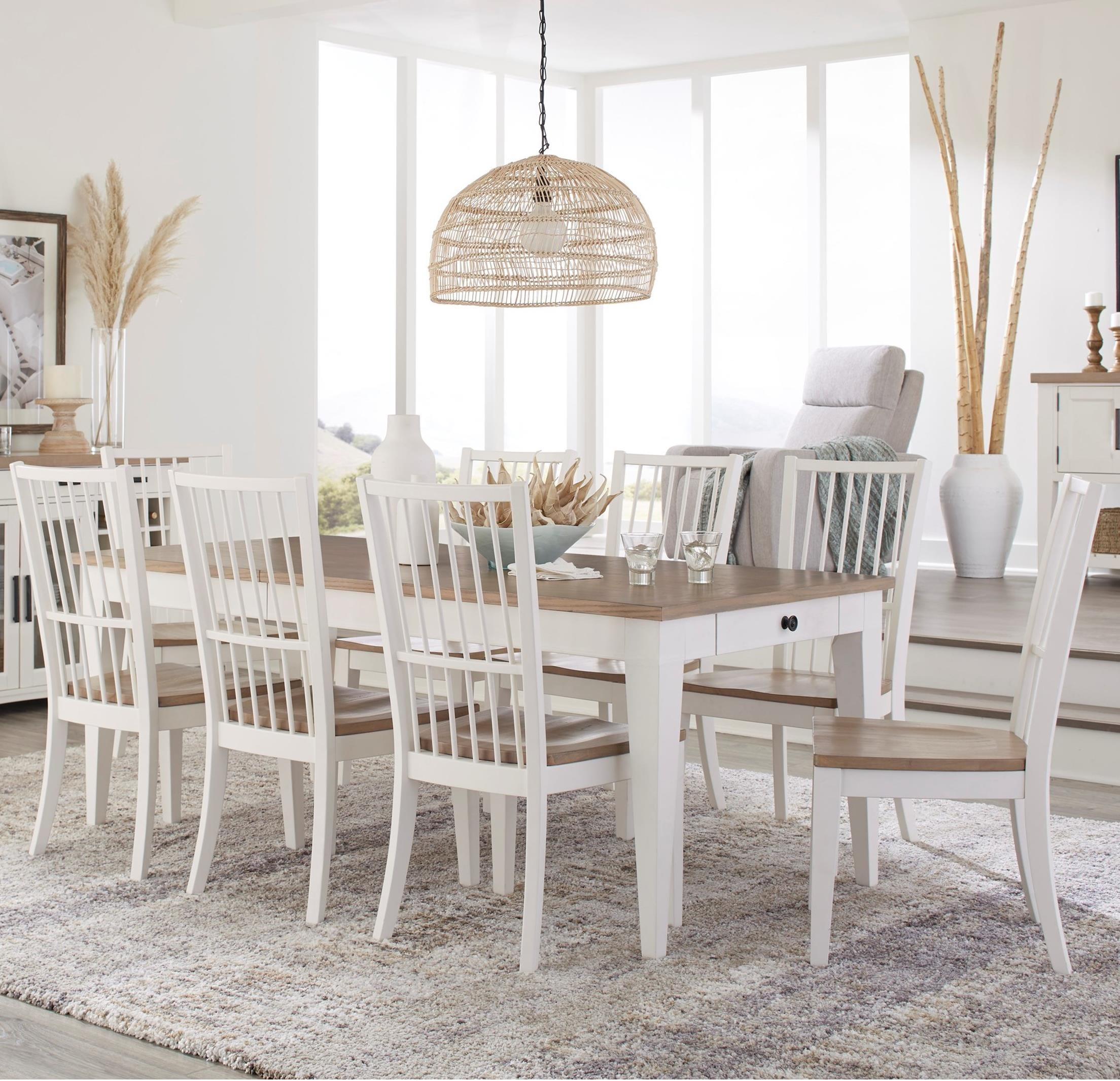 Americana Modern 9-Piece Dining Set by Parker House at Furniture and ApplianceMart