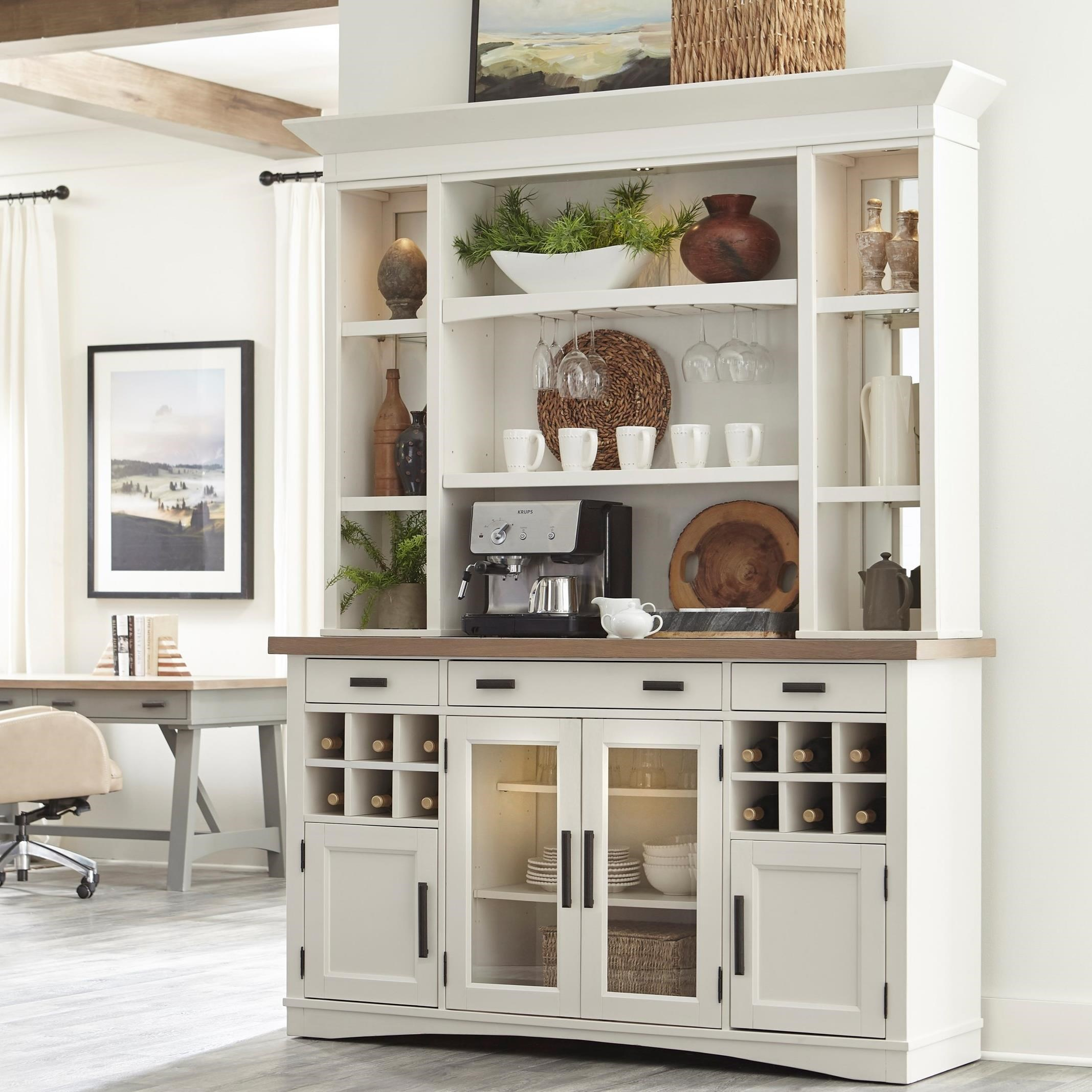 Americana Modern 2pc. Buffet / Display Hutch by Parker House at Furniture and ApplianceMart