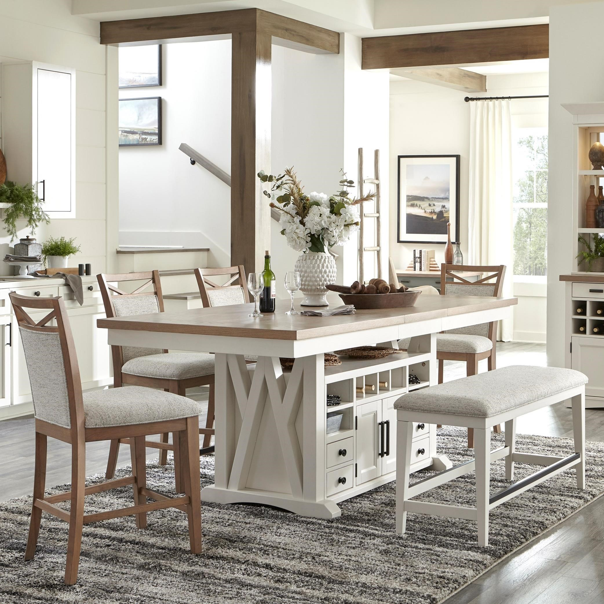 Americana Modern 6-Piece Pub Dining Set by Parker House at Furniture and ApplianceMart