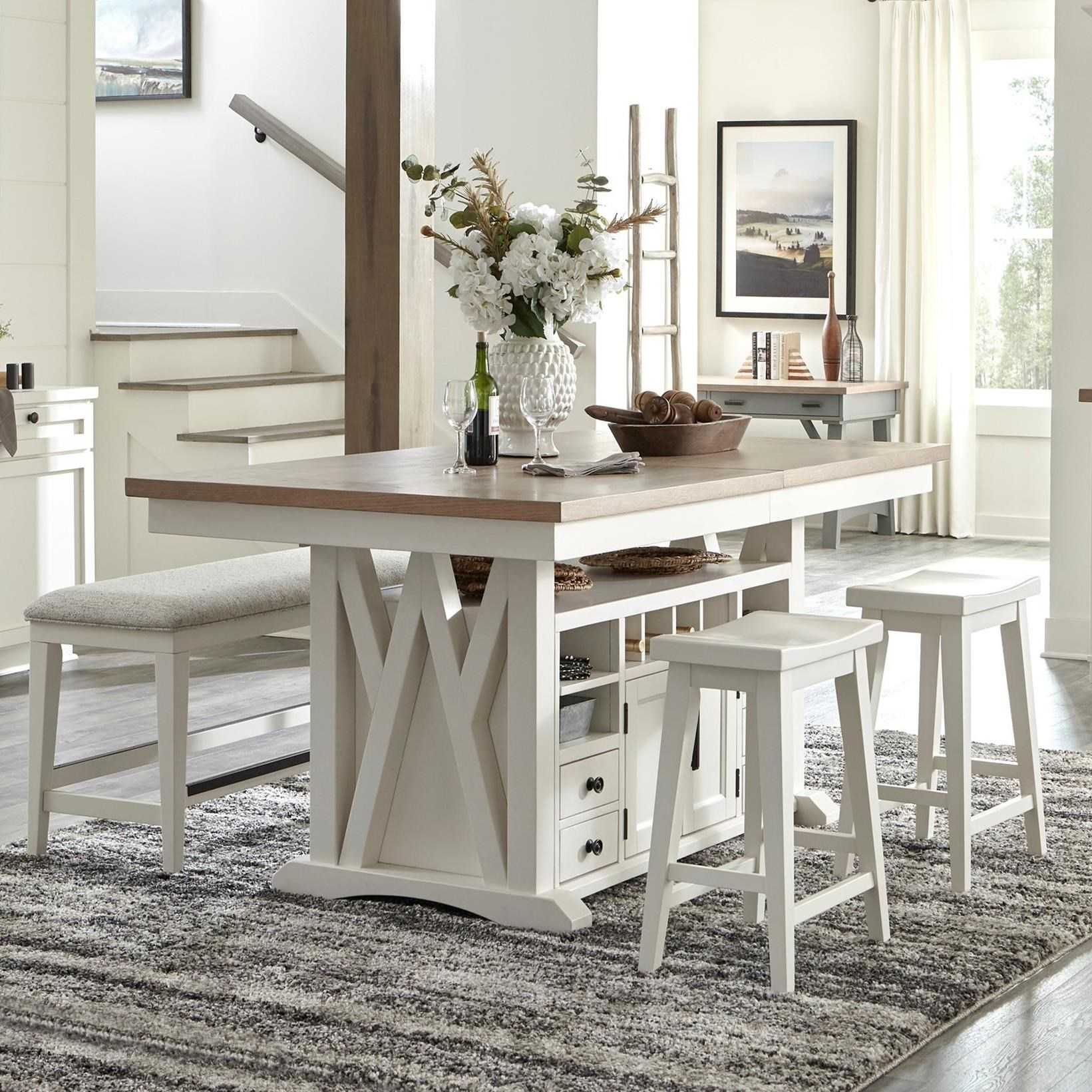 Americana Modern 4-Piece Pub Table Dining Set by Parker House at Jacksonville Furniture Mart