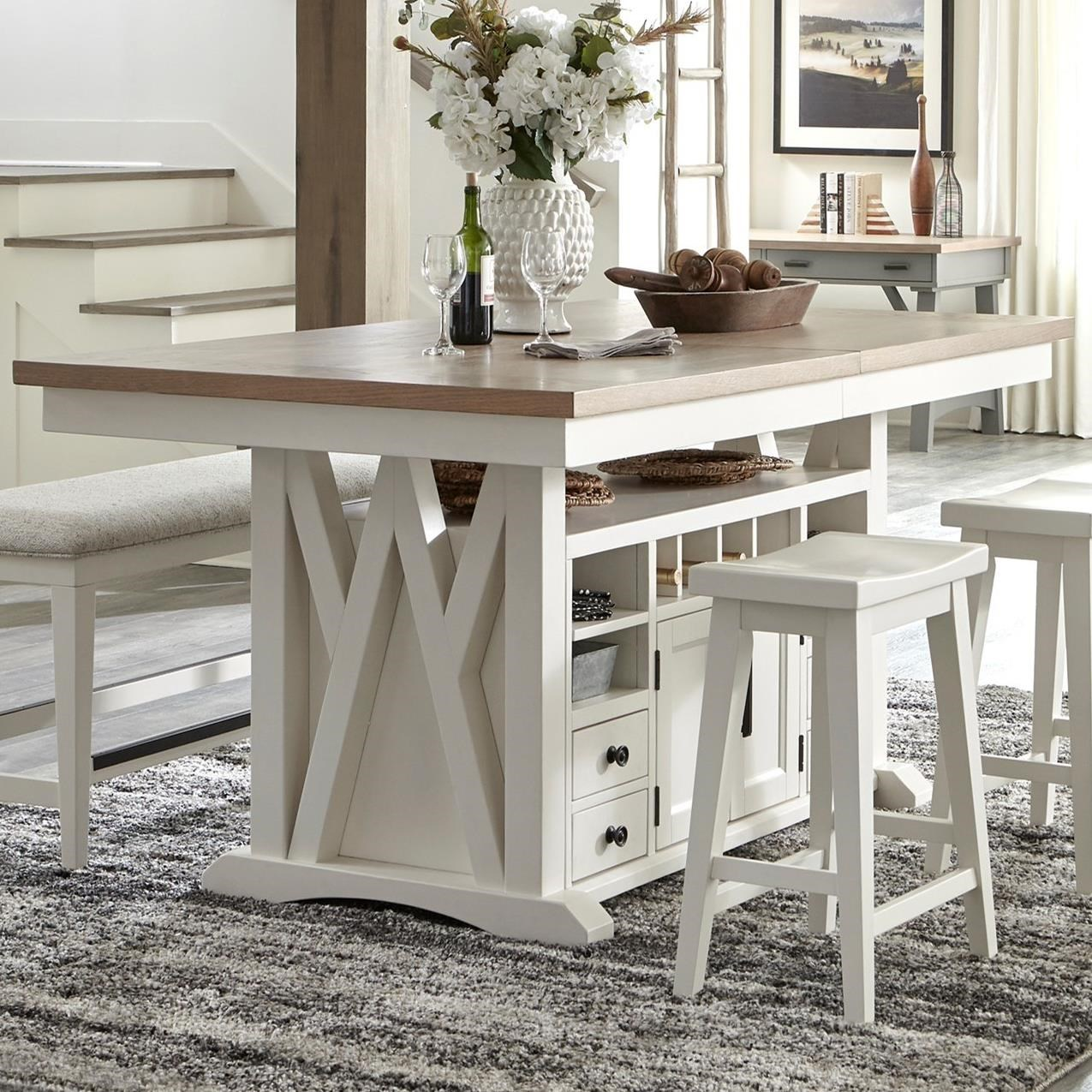 Americana Modern Island Counter Height Table by Parker House at Simply Home by Lindy's