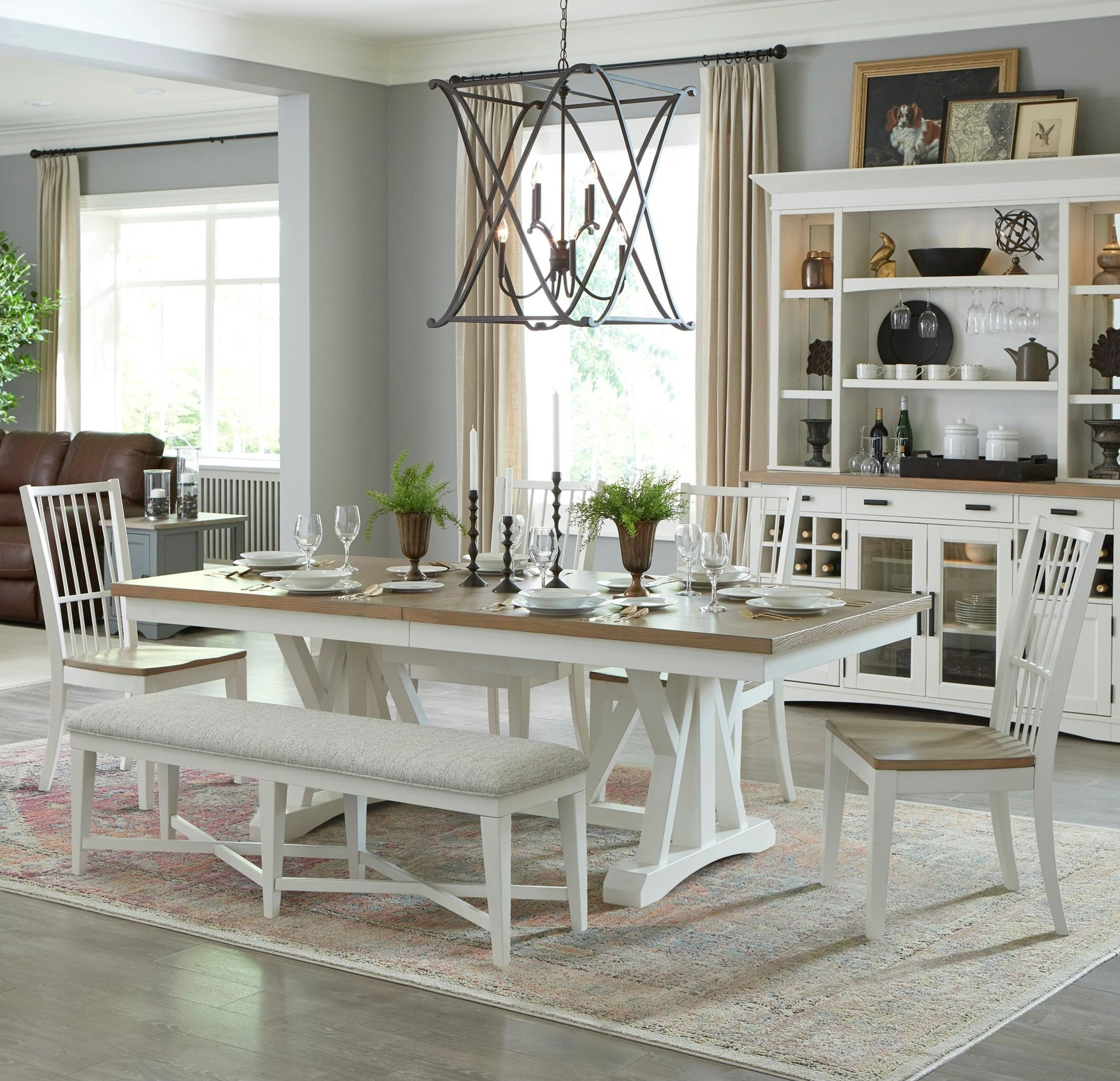 Americana Modern 6-Piece Dining Set with Bench by Parker House at Pilgrim Furniture City