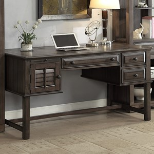 Writing Desk with Louvered Door